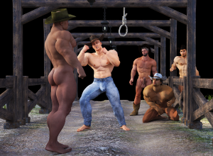 Bunkhouse trouble -- Cowboys cause trouble at night when they have nothing to do and get bored