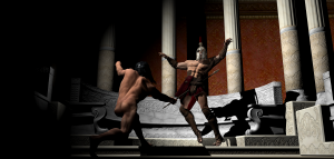 Roman soldier killed by barbarian