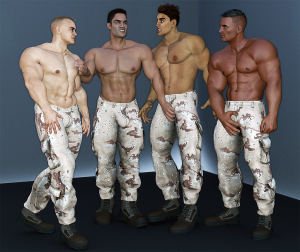 American masculinity in soldiers