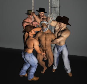Artist is lynched by cowboys