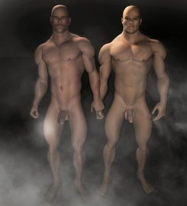 Caught together in the steam room