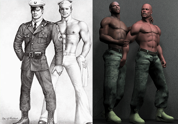 Tom of Finland comparison with Madeira Desouza